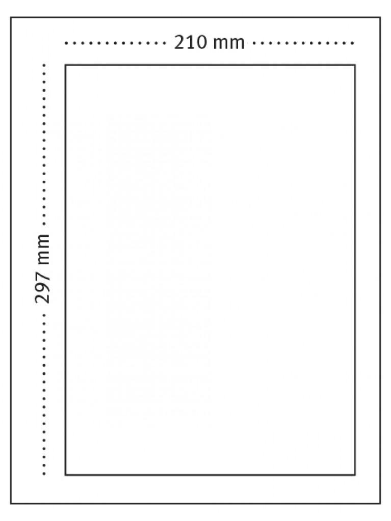 A4-kirje laskuosalla